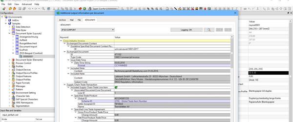 DoXite 2.5.1 von DETEC unterstützt den elektronischen Rechnungsaustausch gemäß der Standards ZUGFeRD und XRechnung
